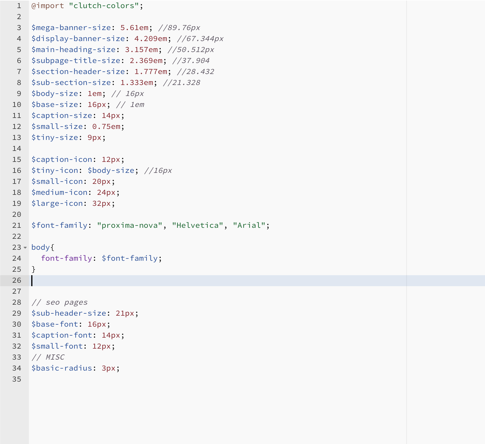 type-code